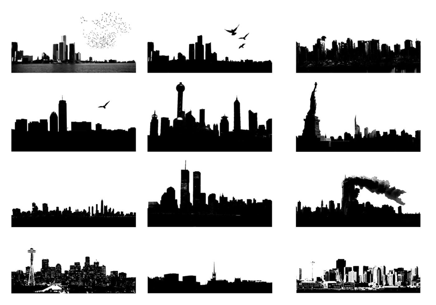 Line Design Art Psd : Photoshop skyline brushes free at