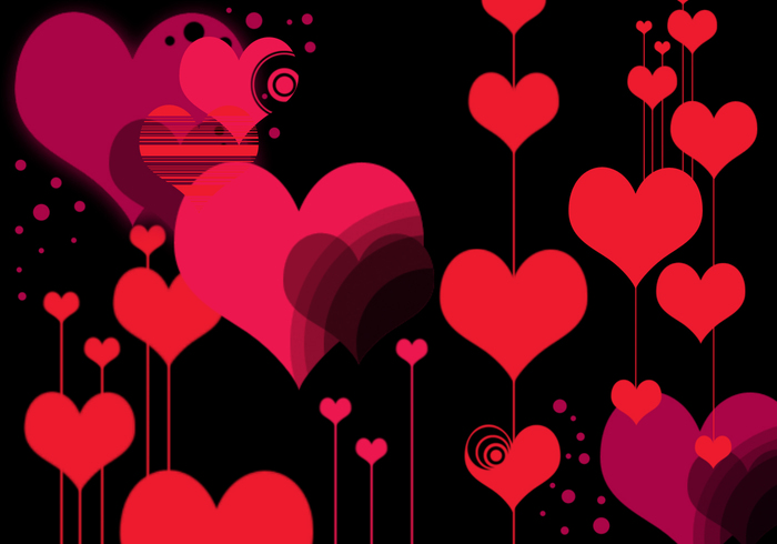 "Vector 'Style"" Heart Photoshop Brushes"