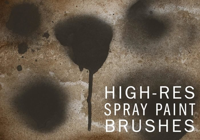 Hi-Res Spraypaint Photoshop Brushes-Set One