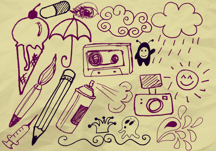 Handgjorda Doodle Penslar