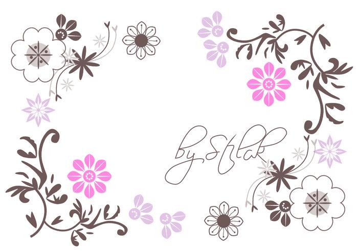 Ornamentos de flores