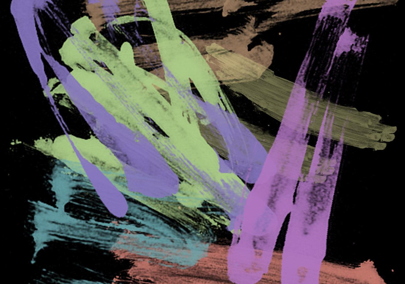 random paint strokes