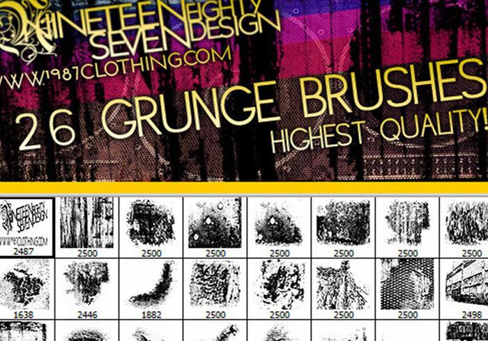 Grunge penseel set (afbeelding pakket inbegrepen!)