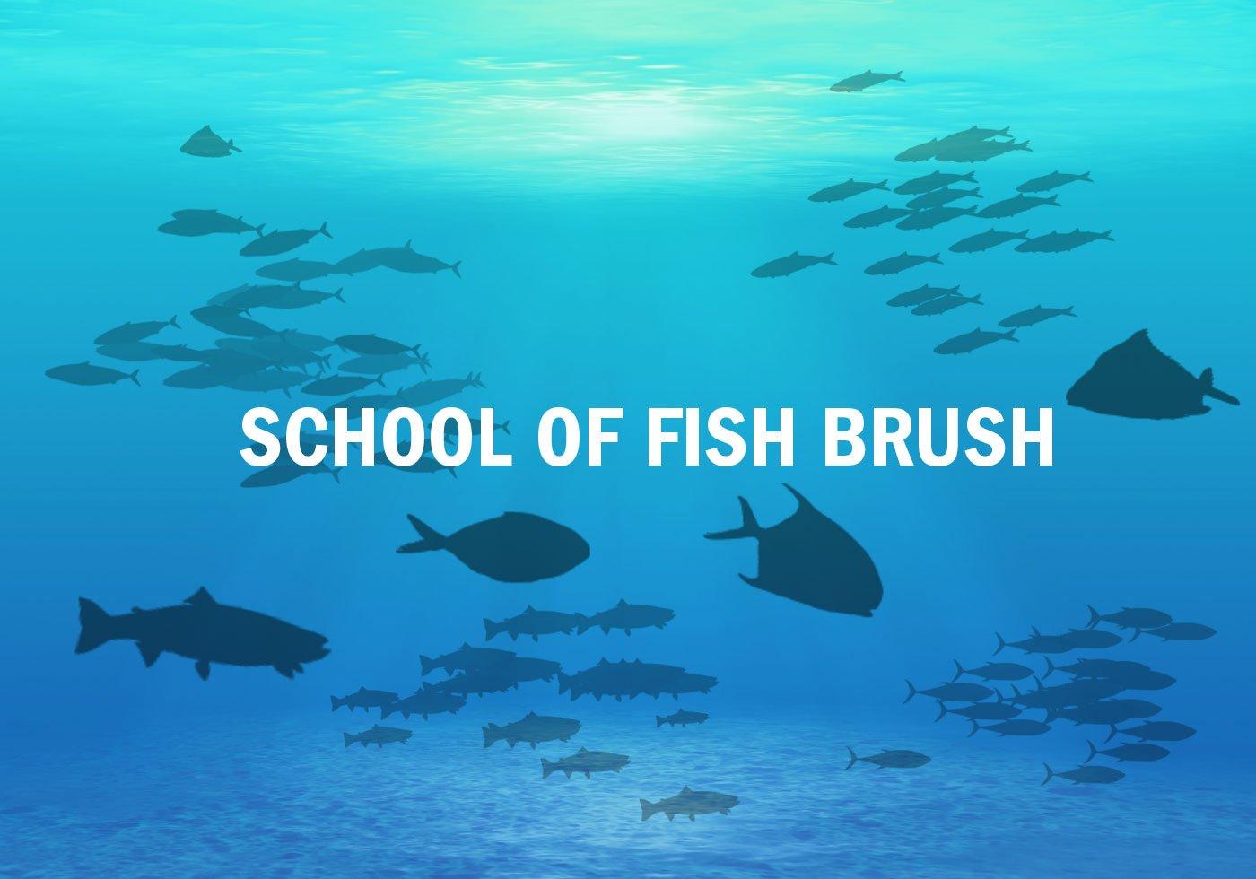 School-of-fish-brush-set-photoshop-brushes