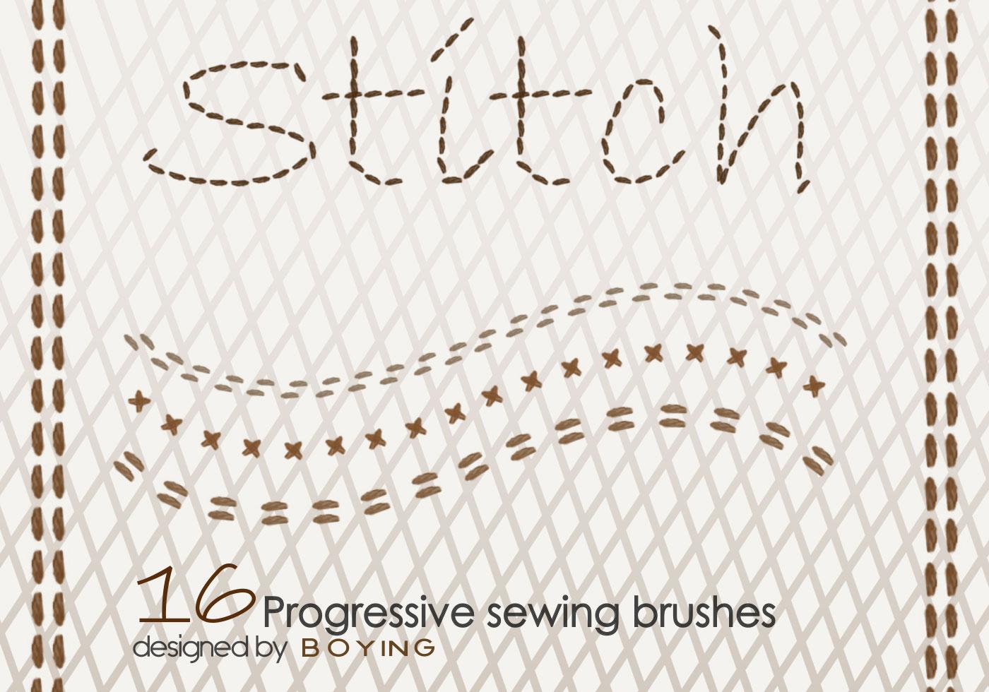 Stitch Free Photoshop Brushes At Brusheezy