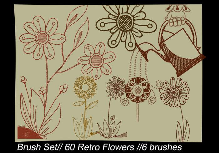 Retro Blommor