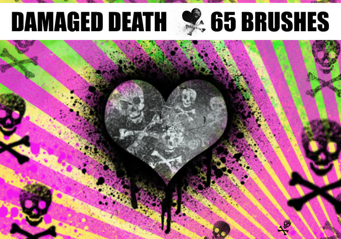 Crânios de morte danificados