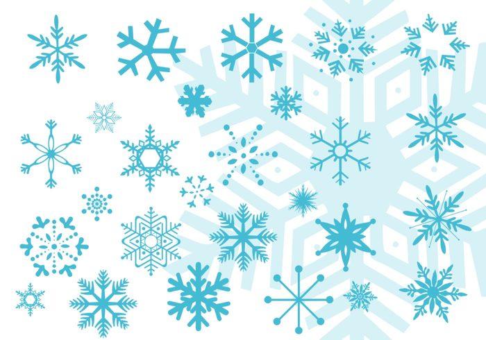 Sneeuwvlok Vectorborstels voor Photoshop