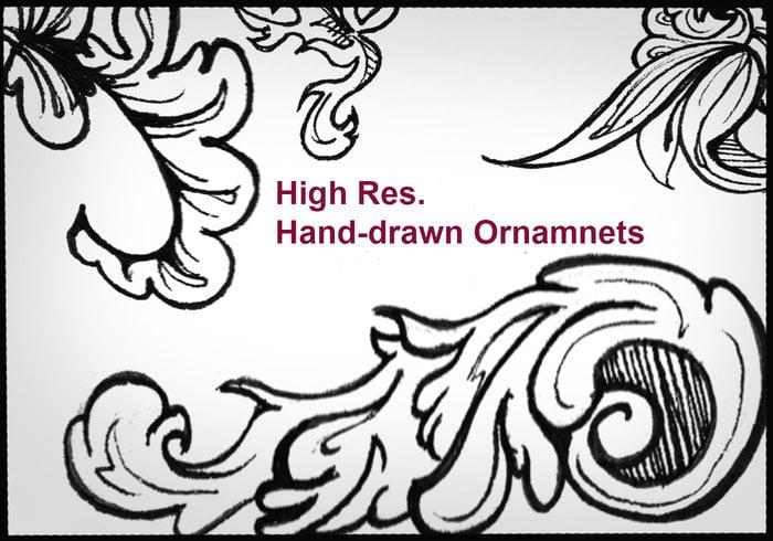 HighRes Handgetekende Ornamenten 2
