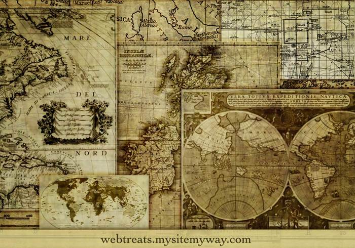 14 High Resolution Assorted Maps Photoshop Borstel Set
