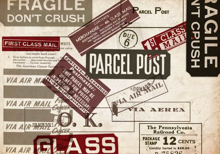 Postage Label Photoshop Brushes