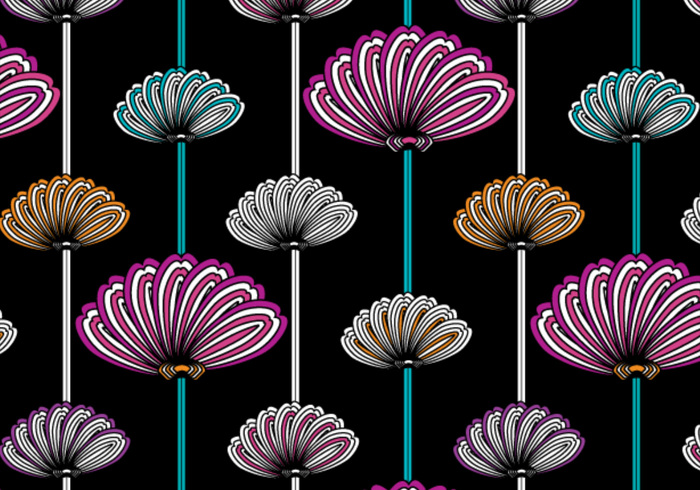 Flowery wallpaper pattern