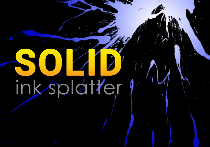 Splatters de tinta sólida