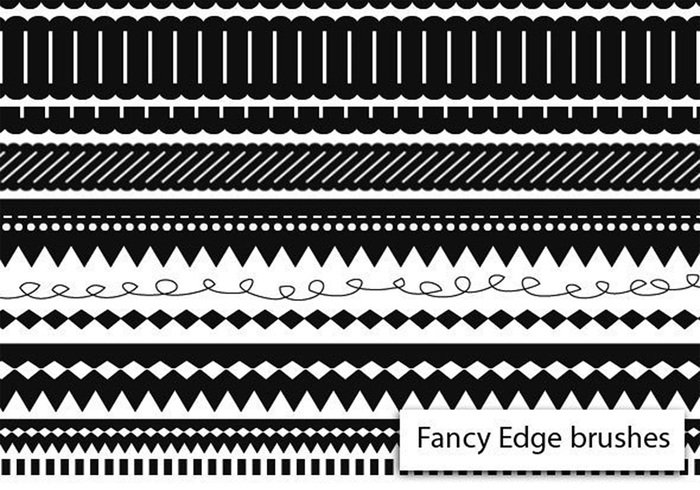 Free Fancy Edge PS Brushes