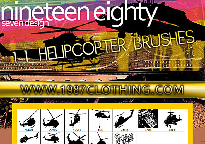 Helicopter Brush Set