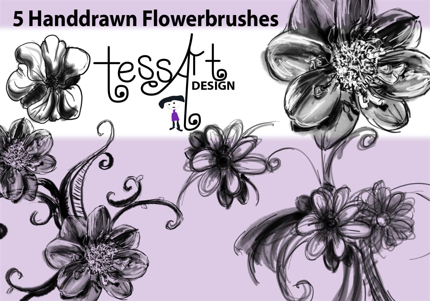 Handdrawn Flowerbrush Free Photoshop Brushes At Brusheezy The Wetbrush Watercolor Mossaics Starburst