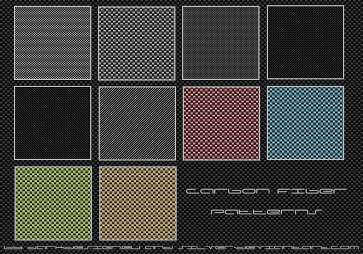 Carbon Fiber Patterns - Free Photoshop - 392.7KB