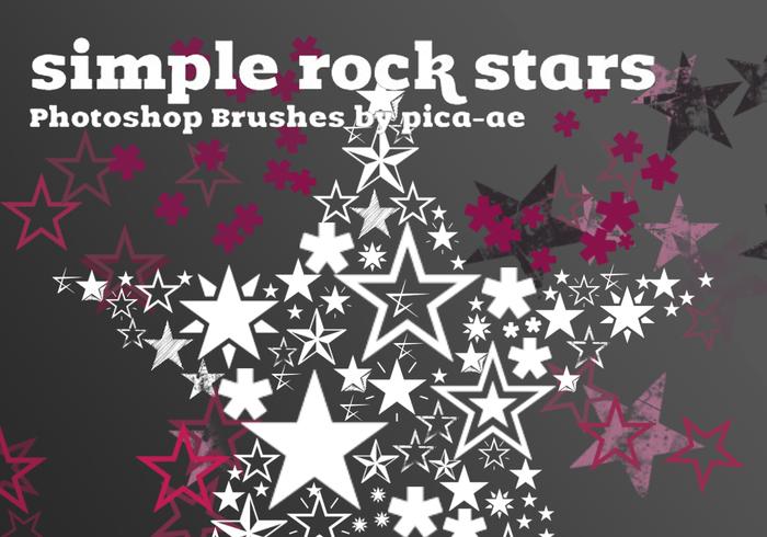 Estrelas de rock simples