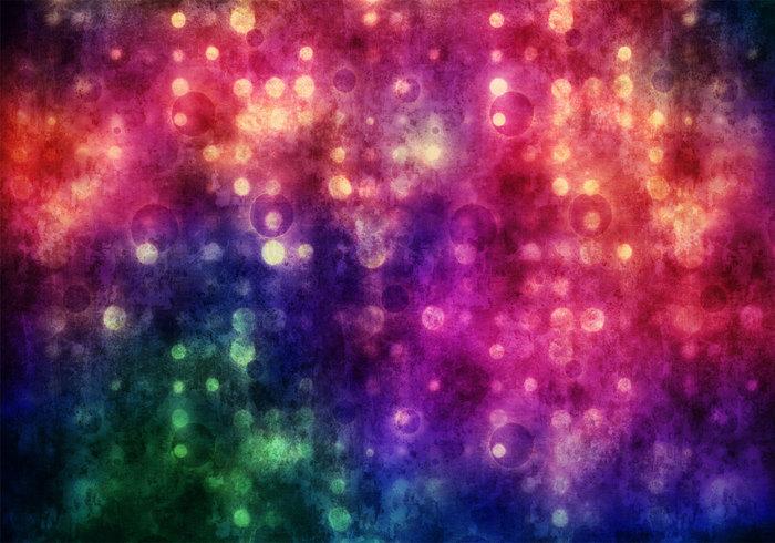 Vibrant Grungy Bokeh Texture