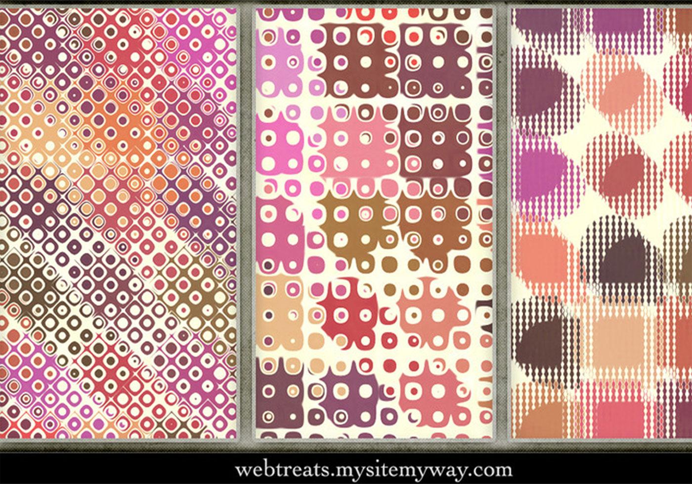 playful seamless retro patterns