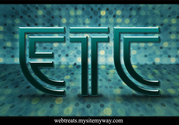 Webtreats Modern Green Glass Text Efeito PSD