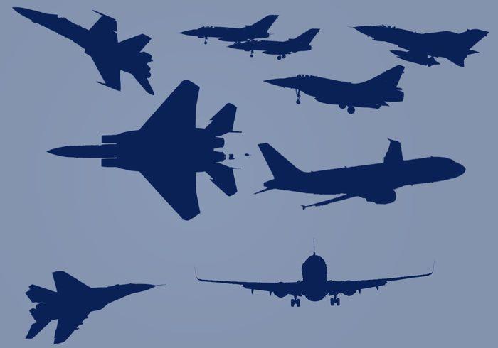 Airplane Trails | Photoshop Using Brushes | 123Freebrushes