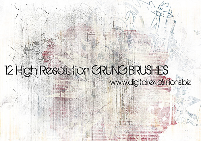 12 High-Resolution Grunge Texture Brushes