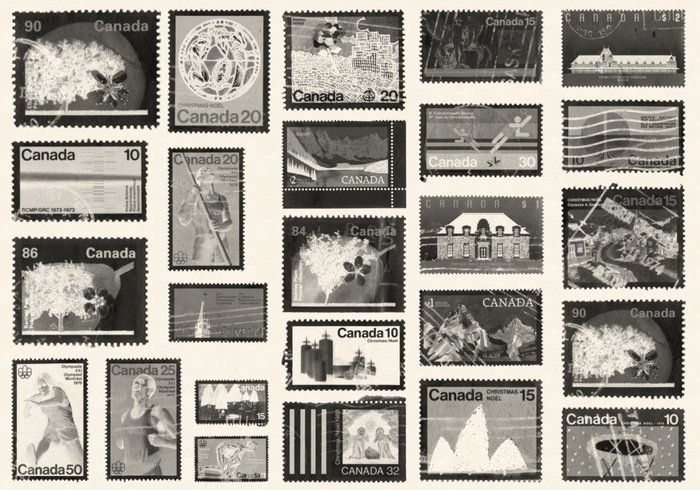Stamps from Canada Photoshop Brushes