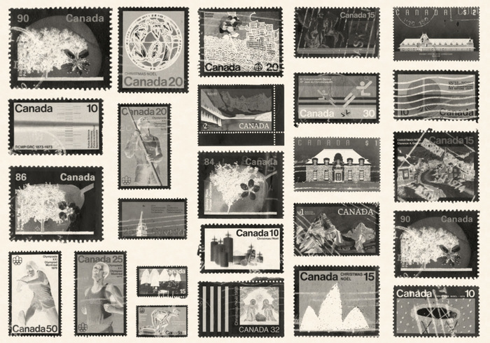 Timbres du Canada Photoshop Brushes