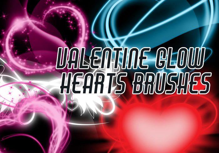 Corações do brilho dos namorados