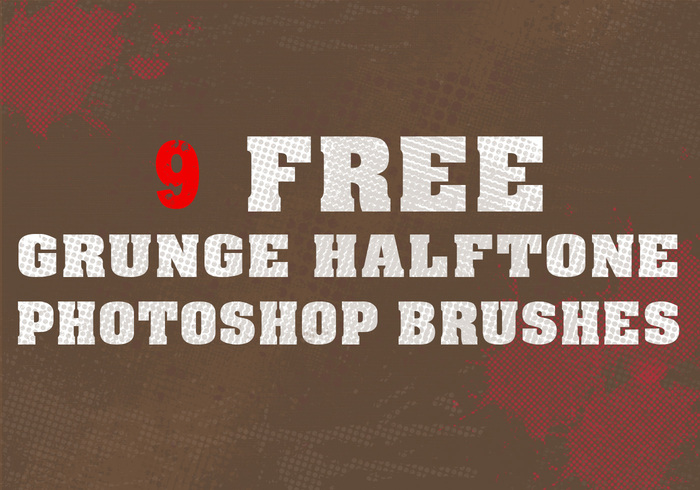 9 Grunge Halftone Brushes