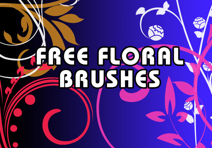 Floral swirls brushes