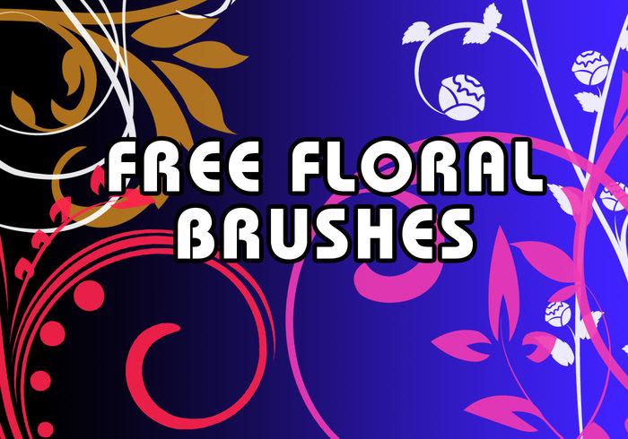 Escovas de redemoinhos florais