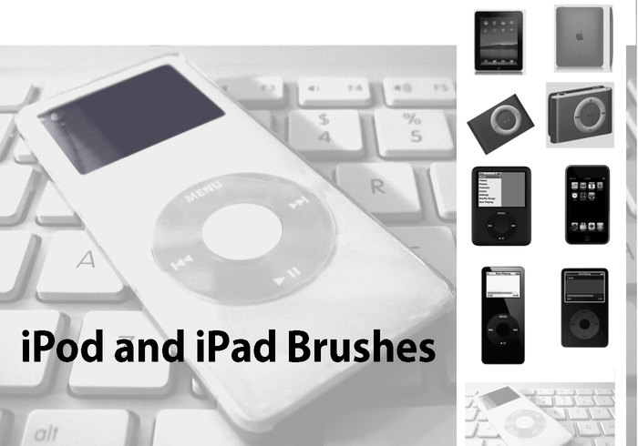 9 Unique and Exclusive iPod and iPad Brushes for Photoshop.