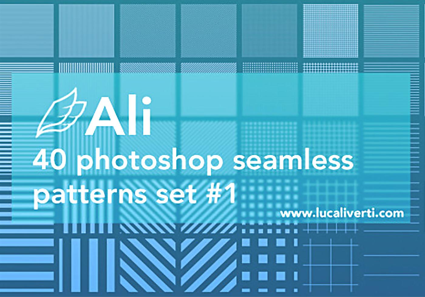 Ali 40 Photoshop seamless patterns set #1 - Free Photoshop