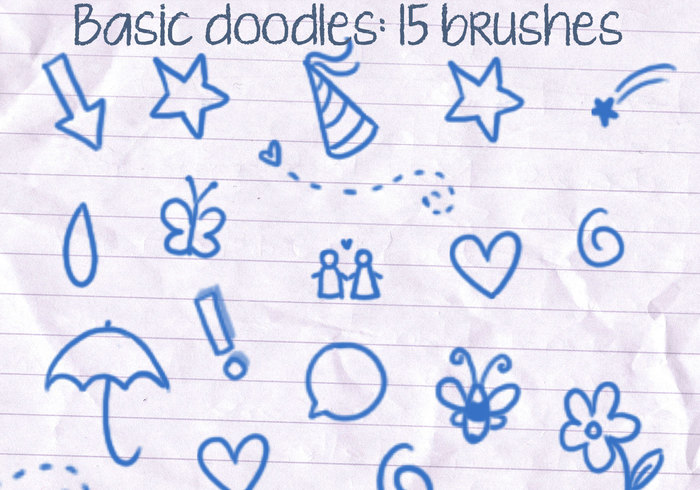 basic doodles brushes free photoshop brushes at brusheezy