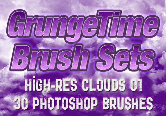 GrungeTime - 30 Hi-Res Cloud Brushes