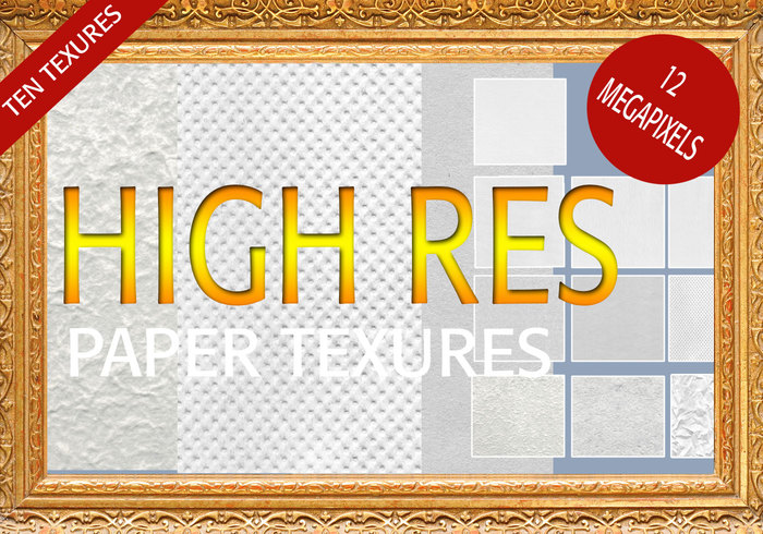 10 High Res Papper Textures