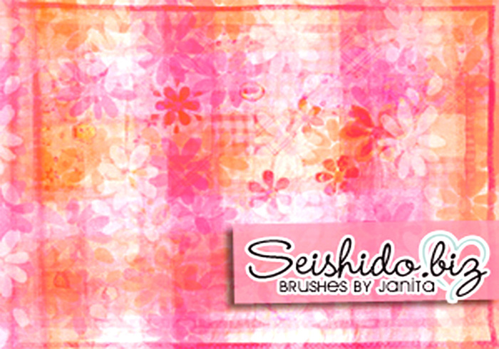 FREE Seishido.biz Floral Texture Brushes