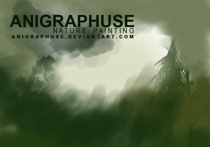 Ensemble de peintures Anigraphuse Nature Brush