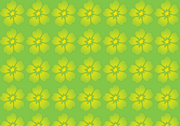 Green and yellow flower pattern