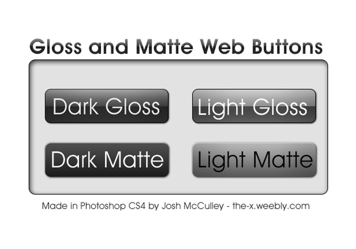 Boutons Web brillants et matte