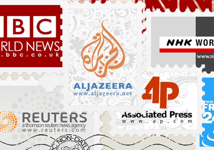 News Agencies Stamp