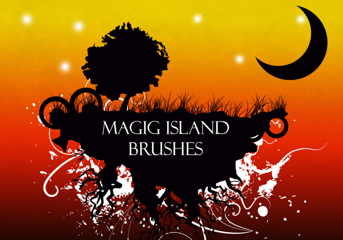Magic Floating Island Brushes by rock91