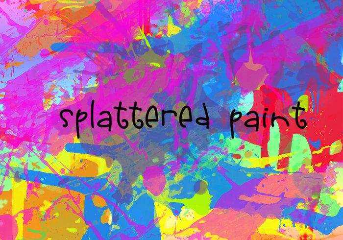 Splattered verf