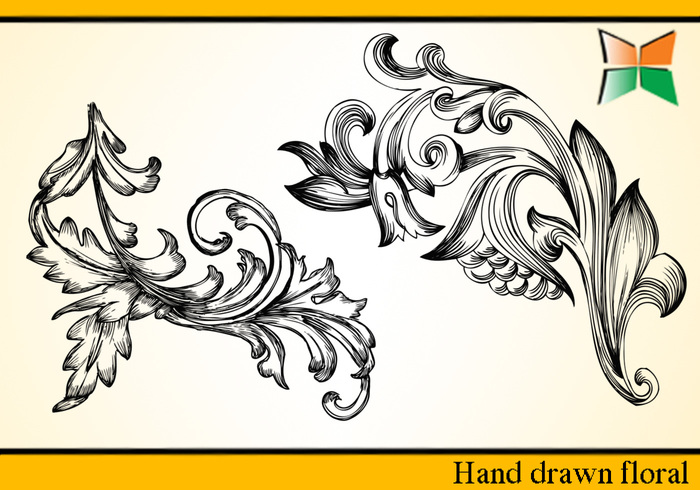 Hand Drawn Floral - 2
