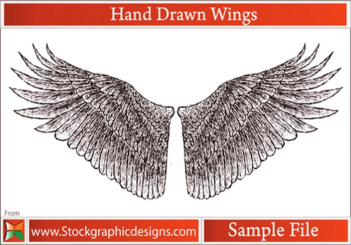Handgezogene Flügel