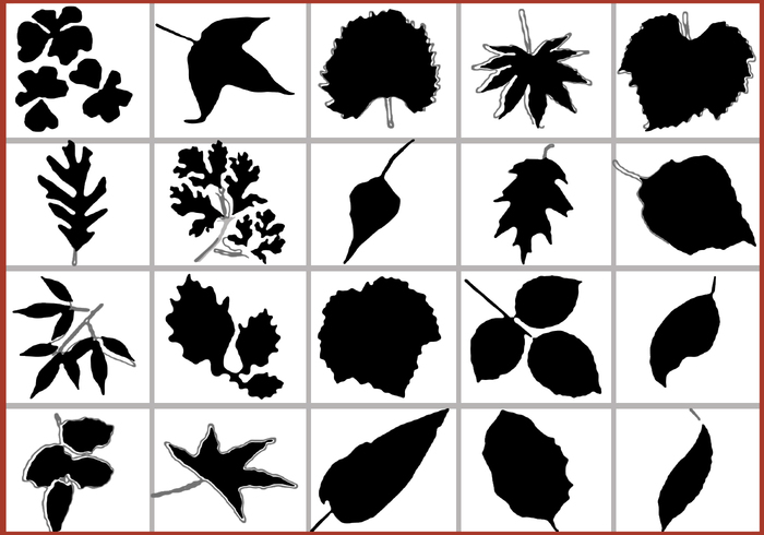 Blad Silhouetten Gratis Brush Pack