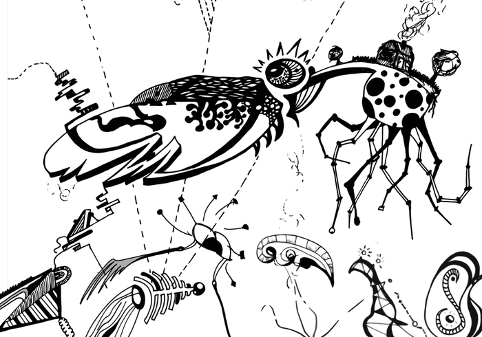 41 Freie kreative Doodles Pinsel