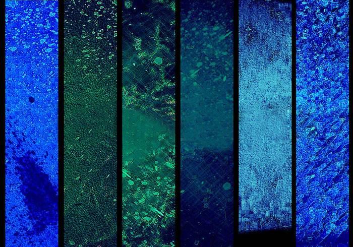 Texturen van Ongetemde Reflecties - III - Blauw